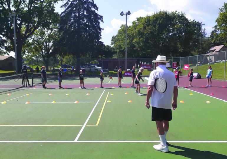 Successful tennis program offering after school option