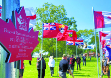 Flags of Remembrance pays tribute  to veterans and first responders