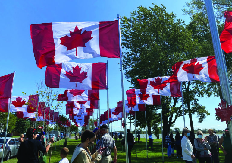 Flags of Remembrance in Dunnville vandalized; police seek suspects